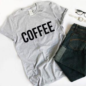 COFFEE Light Heather Gray T Shirt